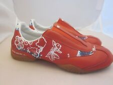 O'NEILL Size 6 Slip-On Sneaker Loafers Surfer Shoes Red Blue White Floral