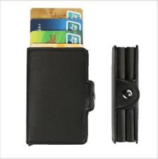 Genuine Leather Pop Up Purse Credit Card Holder Money Cash Clip Wallet Real RFID