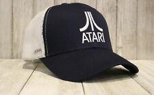New Atari Truckers Hat Blue Baseball Cap Vintage Retro Look 80s Style Video Game
