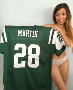 Curtis Martin New York Jets authentic Reebok GAME MODEL stitched green jersey