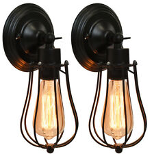 2 x Antike Retro Wandleuchte Deckenleuchte Pendellampe Badlampe Flur Industrie