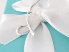 TIFFANY & CO SILVER PERETTI ALPHABET D NECKLACE POUCH INCLUDED