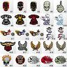 #547IR Skeleton Skull Biker Eagle Embroidered Punk Goth Sew Iron On Patch Badge
