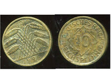 ALLEMAGNE 10  reichspfennig  1925 G  ( bis )