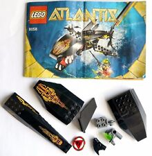 Lego Atlantis 8058 replacement parts and instruction manual mixed lot bricks