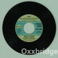 KIRKA BABITZIN Carola Jerusalem SCANDIA Danny Seitseman Kertaa FINLAND Vinyl 45