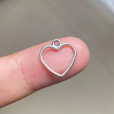 100pcs 13x13mm Hollow Out Heart Charms Antique Silver Tone Jewelry Making