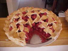 Fake Food Pies Cherry Pie with Slice Out Fake Food Cherry Pie