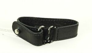 SHINOLA DETROIT Genuine Black Color Leather Unisex Bracelet Large