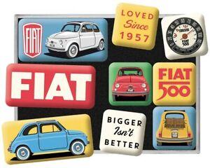 Fiat 500 Loved Since 1957 set of 9 mini fridge magnets (na)