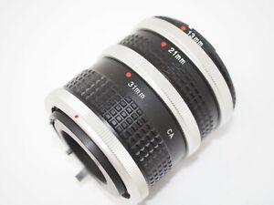 Automatic Extension Tube Set for Canon FD Cameras