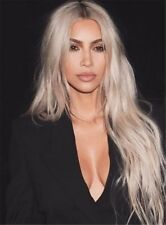Kim Kardashian Elegant Straight Super Long Synthetic Hair Women Wigs