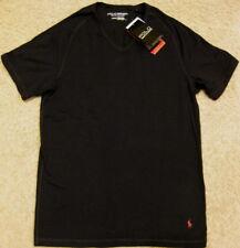 Polo Sport Ralph Lauren X Temp Dri Fit V Neck Slim T Shirt Black Red NEW men M S