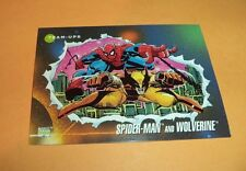Spider-Man and Wolverine # 74 1992 Marvel Universe Series 3 Base Trading  Card