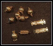 1x 14k Oro Lleno Clásico Filigrana Tuerca Pearl Caja Broche de gancho 15mm sc291gf