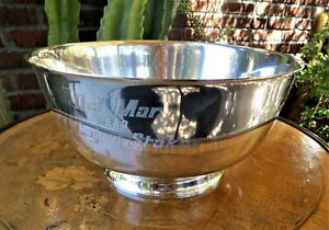 Tiffany & Co. Sterling Silver Horse Racing Large Trophy Bowl Del Mar 1983