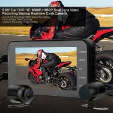 """4"""" 1080P WiFi Motorcycle DVR Driving Video Recorder Front & Rear Camera Dash Cam"""