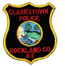 CLARKSTOWN NEW YORK NY Sheriff Police Patch VINTAGE OLD MESH VERY USED SOILED ~