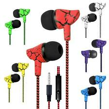 In-Ear Kopfhörer Cracked Style Super Bass Headset Earphone Headphone + PU-Tasche