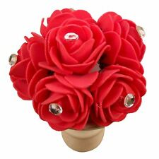 Bunch of Diamante Tipped Foam Roses - Mini Flowers Craft Embellishment Small