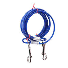 Long Strong Pet Dog Puppy Metal Wire Garden Tie Out Collar Lead Leash TO