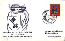JAPAN Schiffspost Shipletter BREMEN MARU 1967 Mitsui L. Seepost Shipletter Ship
