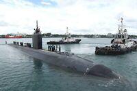 U.S. Navy Submarine USS Tucson Arrives at Changi Naval Base-8 x 12 Photo