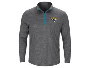 Jacksonville Jaguars Men's Intimidating Performance 1/2 Zip Top Jacket - Gray