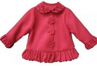 Isobella & Chloe Baby Girls Coat Pink Size 12 Months Long Sleeve Peacoat NEW