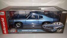 Auto World 1:18 Pontiac GTO Judge 1969 blauw metallic nieuw in verpakking