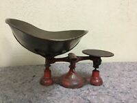 Antique Fairbanks Balance Scale With Brass Pan-Most Paint Remains