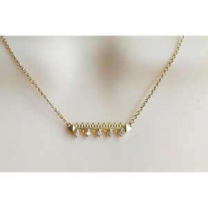 Kendra Scott Anissa Gold Crystal Bar Necklace Retired Style