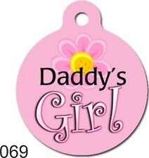 Pet Tags  Personalized Pet ID tag for Dog and Cat Collars DADDY'S GIRL ROUND