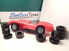 8 front and 8 rear tires for Strombecker 1960 - Usa