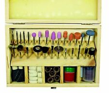 """Rotary Accessory Bit Set 1/8"""" Shank Grinding Sanding Kit with Case fits Dremel"""