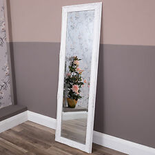 Tall Slim White Wall Mirror Full Length Shabby Vintage Chic Antique Hallway Home