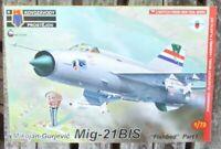 Kovozavdovy Flugzeug MiG-21 BIS 1:72 NVA,UdSSR, CCCP,eingeschweißter Bausatz