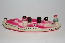 1940's Celluloid Made in Japan Gun Boat with Sailor, Nice Original