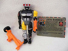 1992 Crash Dummie Jack Hammer figure + weapon hydraulic pump + Orginal Bio card