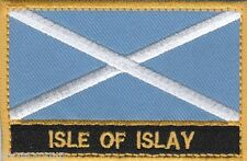 Isle Of Islay Scotland Town & City Embroidered Sew on Patch Badge