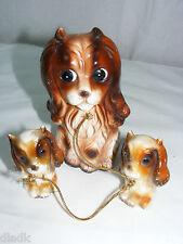 Vintage 1950's 60's Japan Porcelain Cocker Spaniel & Pups Figurine