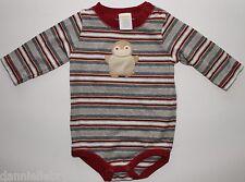 Gymboree Holiday Friends Striped Penguin Bodysuit Size 3-6 Months EUC