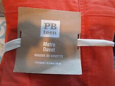 Pottery Barn Teen Metro full queen  duvet orange   New