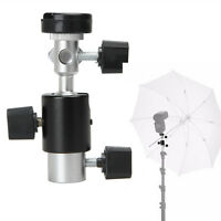 Flash Bracket Hot Shoe Umbrella Swivel Mount Holder Adapter For Trip Light Stand