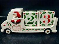 HTF Lenox Countdown To Christmas Santa In Truck 3D Porcelain Rare!