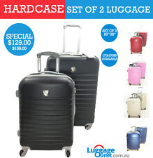 4 Wheel Set of 2 Hard Case Travel Luggage available in 5 different colours