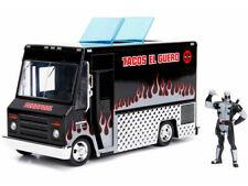 1/24 Jada MARVEL Deadpool Taco Truck with Deadpool Figure Diecast Black 30540