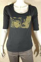 SWILDENS Taille XS - 34 Superbe tee shirt manches courtes noir femme T-shirt top