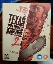 The Texas Chainsaw Massacre 2 Bluray Limited Edition 3 Disc Arrow OOP