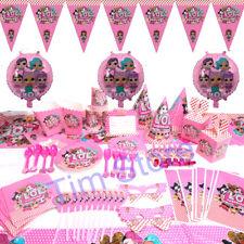 100pcs LOL Surprise Girls Birthday Party Tableware Decoration Supplies Kids Set
